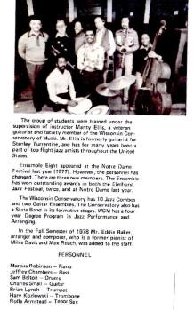 1978 Wisconsin Conservatory of Music