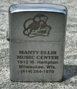 Manty Ellis Music Center lighter, photo courtesy of Rick Jones