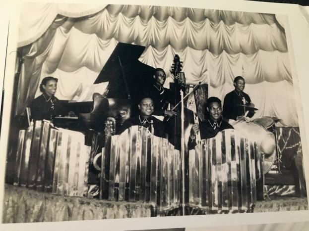 Photo: WBHM ; Loretta Whyte and band; Flame Club. I believe the Flame Club had 2 levels, thus different decor per floor. Band at Flame club included George Lott, trumpet, Buster Washington, alto Sax, Bobby Burdette, tenor Sax, Paul Bryant, tenor Sax, TG Washam, drums.