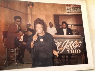Photo courtesy of: Mary White ; Bill Gibbs trio. Gibbs also has a small record label in the Milwaukee area. Gibbs records. He was the organist. Ralph Davis on guitar.