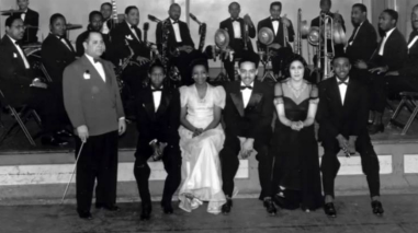 Photo: Milwaukee's Bronzeville Paul Greenen ; Bernie Young band ; Leo Schultz, Eugene Brashan, George Left, Skeeter Squese, Jimmie Dudley, Leonard Gay, Clarence Bedford, Sam Moore, Richard Heard, Pate, PG and Polly.